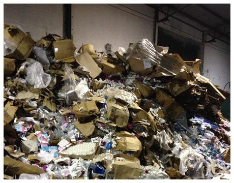 smaltimento e distruzione imballaggi misti