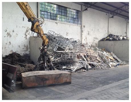 smaltimento e distruzione rottami ferrosi